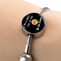 In a World Full of Tens Be An Eleven Stainless Steel Round Charm Bracelet with Gift Box