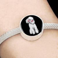 Poodle Charm Steel Bracelet, Cute Gift for Cute Dog Lovers