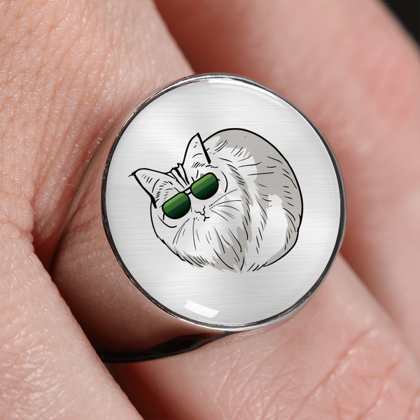 Birman Cat Signet Ring, Cat Lover Gifts 9188A