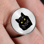 Bombay Cat Signet Ring, Cat Lover Gifts 9189A