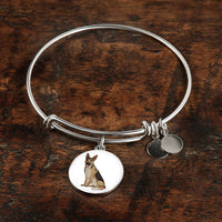 German Shepherd Pendant Necklace Bangle, Funny Gift for Dog Lovers
