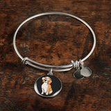 Beagle Pendant Necklace Bangle, Funny Gift for Cute Dog Lovers