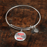 Justice for Mews Circle Pendant Bangle Bracelet, Christmas Gifts for Cat Lovers