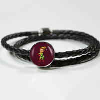 Elf Circle Charm Leather Bracelet, Floss Dancing Gifts for Dance Lovers