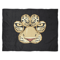 White Tiger Paw Face Fleece Blanket for Women Men Kids Boys Girls