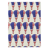 Lacrosse USA Flag Journal Diary Hardcover Notebook, Gifts for Lacrosse Players Sports Lovers