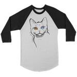 American Wirehair Cat Raglan Shirt, Cat Lover Gifts 9185