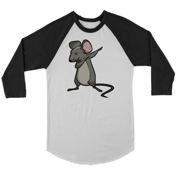 Dabbing Mouse Rat Raglan Shirt, Gifts for Rodent Lovers