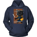 "Funny Cool ""Handicat"" Halloween Cat Unisex Hoodie for Men Women Plus Size"