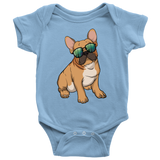 French Bulldog Sunglasses Funny Baby Romper Bodysuit, Gifts for Dog Puppy Lovers