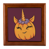 Unicorn Pumpkin Halloween Jewelry Box, Gifts for Trick Treat Costume Party