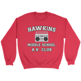 Stranger Hawkins Middle School Unisex Crewneck Sweatshirt for Men Women Things A V Club