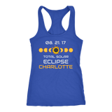 Solar Eclipse Charlotte Racer-back Tank Top