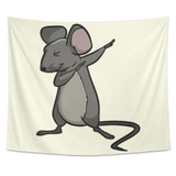 Dabbing Mouse Rat Wall Hanging Tapestry, Gifts for Rodent Lovers
