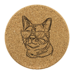 Bengal Cat Cork Coaster, Cat Lover Gifts 9187A