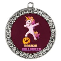 Dabbing Halloween Unicorn Bracelet, Gifts for Pumpkin Candy Treat Scary Trick