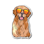 Golden Labrador Retriever Sticker, Funny Gift for Dog Lovers