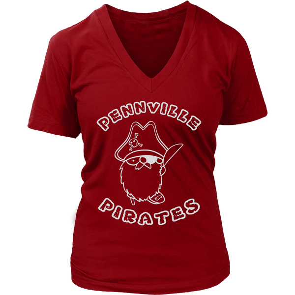 Stranger Cat Dustin Pennville Pirates VNeck Shirts for Women Things