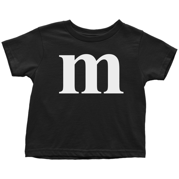 Funny M Candy Halloween Toddler T Shirt Boys Girls Kids