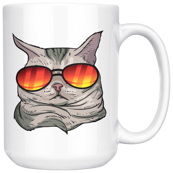American Shorthair Cat White Coffee Mug 15oz, Cat Lover Gifts 9184A