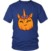 Unicorn Pumpkin Halloween Tee Shirt, Gifts for Trick Treat Costume Party