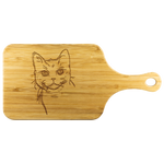 American Wirehair Cat Wood Cutting Board with Handle, Cat Lover Gifts 9185