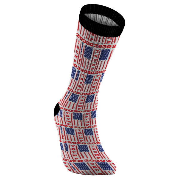 Trump 2020 USA Flag Socks, Gifts for Republicans Conservative