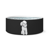 Poodle Dog Bowl, Funny Gift for Cute Dog Lovers