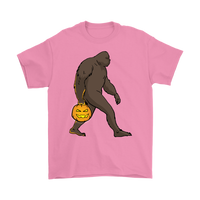 Halloween Bigfoot Sasquatch Pumpkin T-Shirt, Gifts for Costume Party