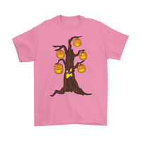 Halloween Pumpkin Tree T-Shirt, Gifts for Candy Treat Scary Trick