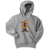 Halloween Pumpkin Tree Youth Hoodie, Gifts for Candy Treat Scary Trick