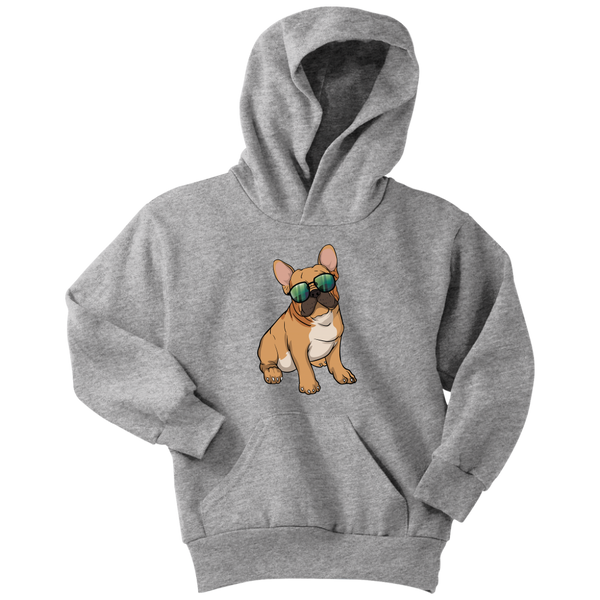French Bulldog Sunglasses Funny Youth Hoodie, Gifts for Dog Puppy Lovers