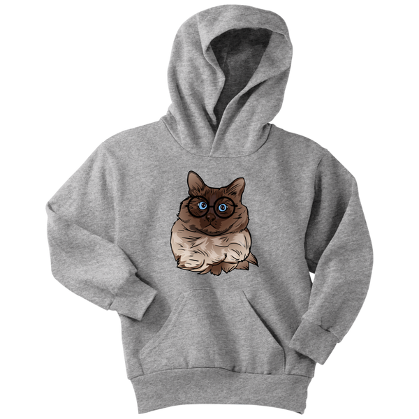 Balinese Cat Youth Hoodie, Cat Lover Gifts 9186A