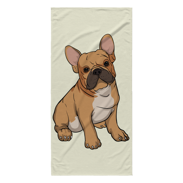 French Bulldog Beach Towels, Funny Gift for Cute Dog Lovers