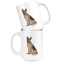 German Shepherd White Coffee Mugs, Funny Gift for Dog Lovers