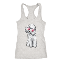 Poodle Womens Racerback Tank Top, Cute Gift for Cute Dog Lovers