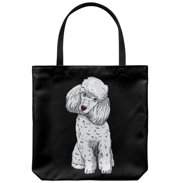 Poodle Tote Bag, Funny Gift for Cute Dog Lovers