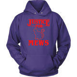Justice for Mews Cat Hoodie Sweatshirt for Men Women