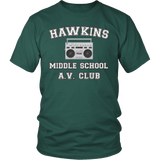 Stranger Hawkins Middle School T Shirt for Men Women Things A V Club