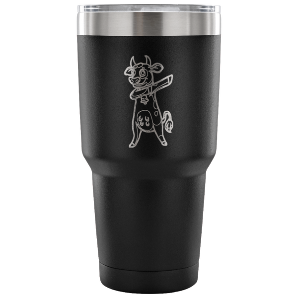 Dabbing Cow Vacuum Travel Tumbler, Gifts for Farm Animal Lovers