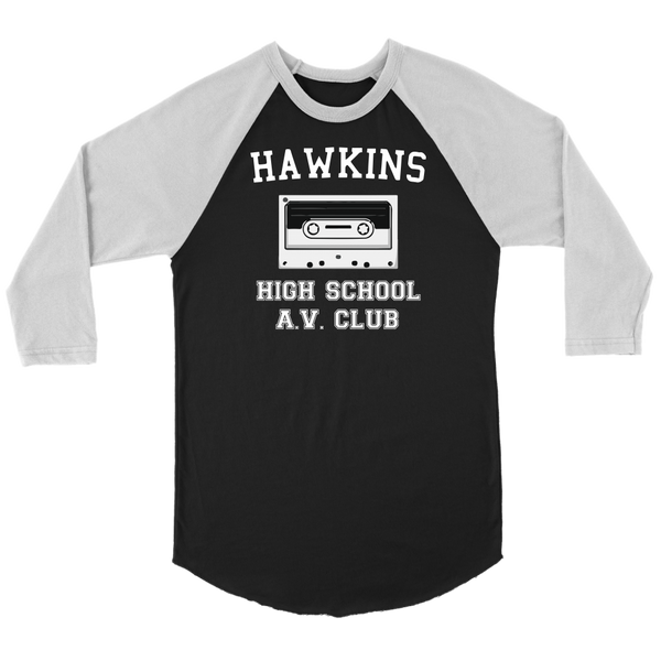 Hawkins High School Raglan Shirt, Christmas Gifts for AV Club Lovers