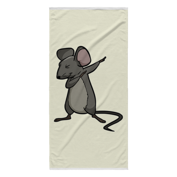 Dabbing Mouse Rat Beach Towel, Gifts for Rodent Lovers