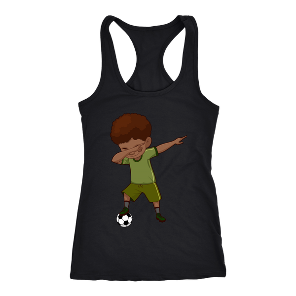 Cute Funny Dabbing Dance Soccer Racerback Tank Top for Women