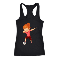Soccer Tank Top Funny Dabbing Dance Soccer Racerback Tank Top for Women