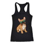 French Bulldog Womens Racerback Tank Top, Cute Gift for Cute Dog Lovers