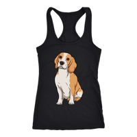 Beagle Womens Racerback Tank Top, Funny Gift for Cute Dog Lovers