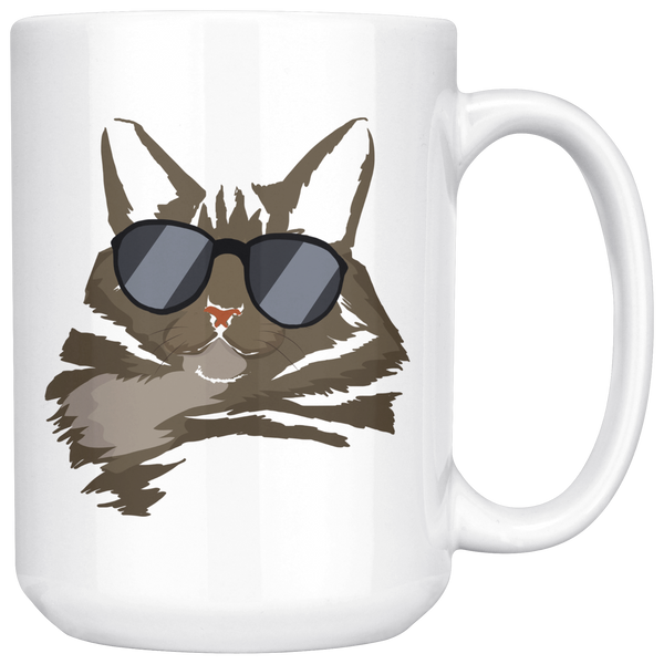 American Bobtail Cat White Coffee Mug 15oz, Cat Lover Gifts 9182A