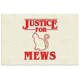 Justice for Mews Wall Decor Canvas, Christmas Gifts for Cat Lovers