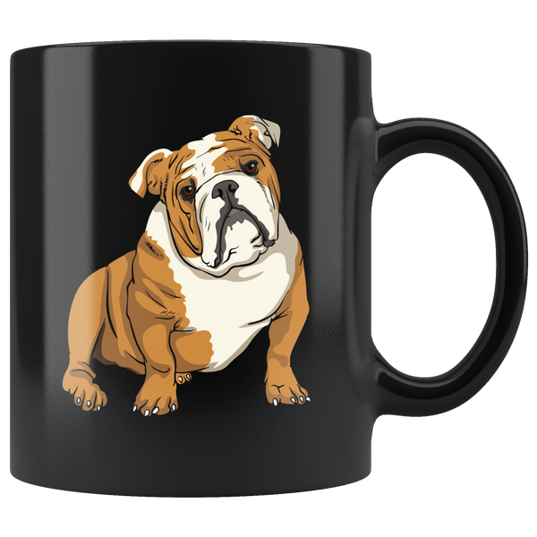 Bulldog Black Coffee Mugs, Funny Gift for Cute Dog Lovers