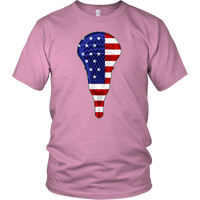 Lacrosse USA Flag Tee Shirt, Gifts for Lacrosse Players Sports Lovers